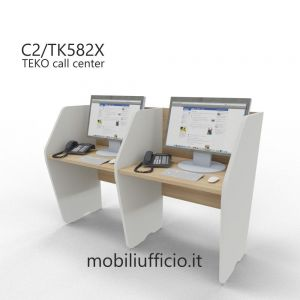 C2/TK582X DOPPIA postazione TEKO call-center SINGOLA