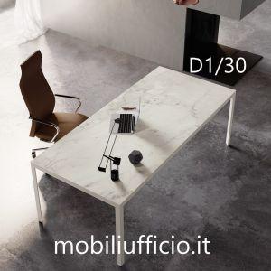 D1/30 - scrivania D1 con piano in vetro