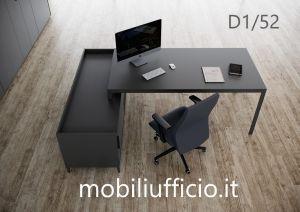 D1/52 - scrivania D1 con mobile di servizio
