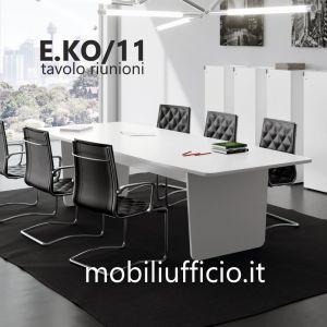 E.KO/11 tavolo riunioni EKOMPI con base pannellata