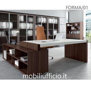 FORMA/01 scrivania manager con fianco DRITTO