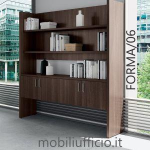 FORMA/06 libreria BOISERIE mod. FORMA con ante frontali