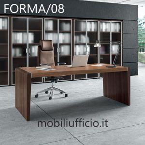 FORMA/08 scrivania manager con fianco SAGOMATO
