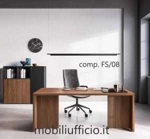 """FS/08 - scrivania direzionale FUNNY PLUS """"doppia gonna"""""""