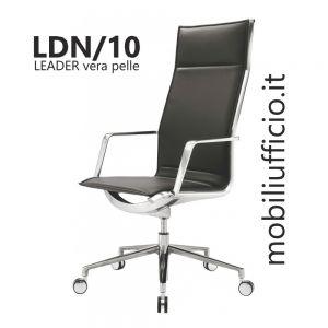 LDN/10 poltrona LEADER in vera pelle schiena LISCIA