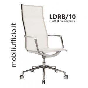 LDRX/10 poltrona LEADER in rete alta traspirabilità e resistenza