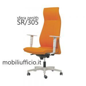 SR/305 poltrona SFERA ZENITH schienale ALTO grigio