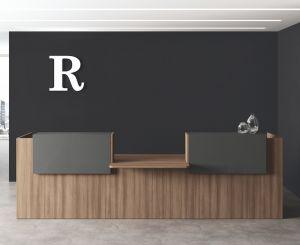 POT07 bancone reception lineare con piano CONVERSAZIONE