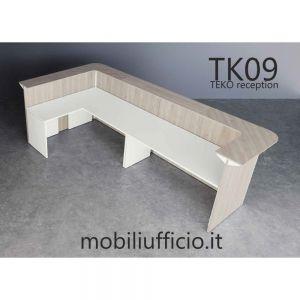 TK09 bancone angolare TEKO PANEL con dattilo laterale