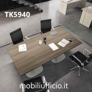 TK5940 tavolo riunione TEKO con piana RETTANGOLARE