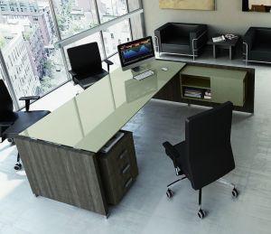 TE62 - scrivania angolare TOWER EVO piano vetro