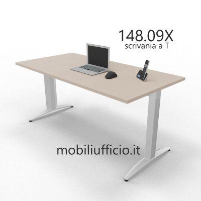 148.09X scrivania prof. 80 OXI BASIC struttura in metallo a T