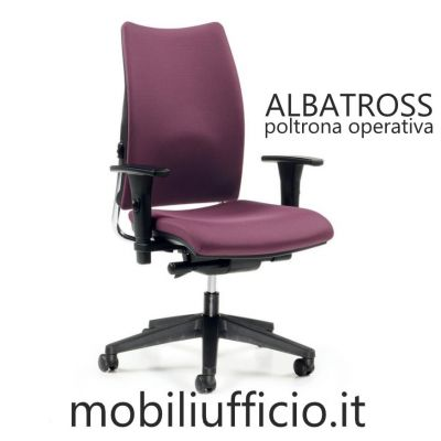 520 poltrona ALBATROSS operativa con schienale imbottito