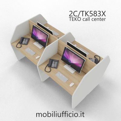 C2/TK583X DOPPIA postazione TEKO call-center DOPPIA
