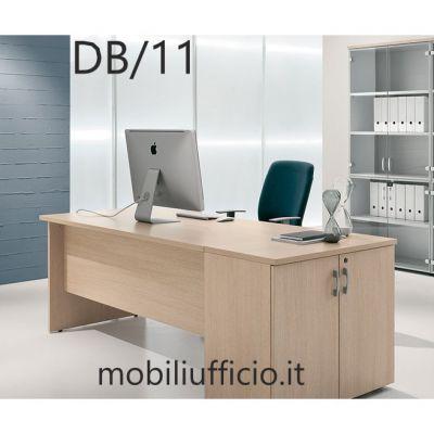DB/11 scrivania DERBY p. 80 base pannello e mobile appendice
