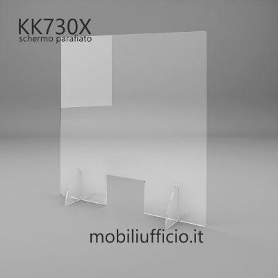 KK730X schermo parafiato da banco con feritoia