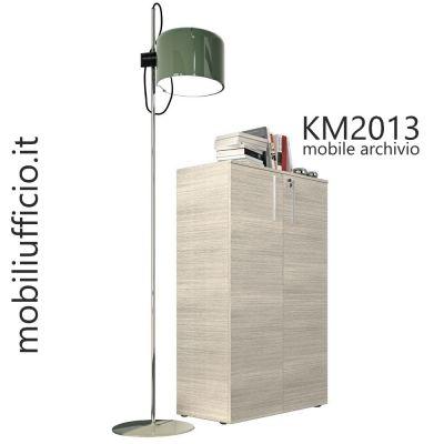 KM2013 mobile archivio H. 119,7 con doppia anta e serratura