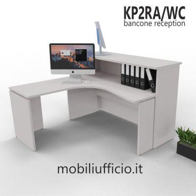 KP2RA/WC banco reception KAMOS con workstation angolare