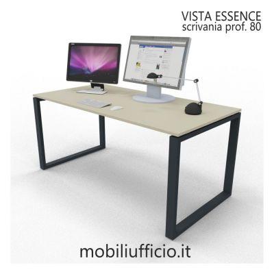 VE1AAXX08L scrivania VISTA ESSENCE struttura ANELLO prof. 80