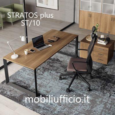 STplus/10 scrivania STRATOS PLUS operativo con base ANELLO