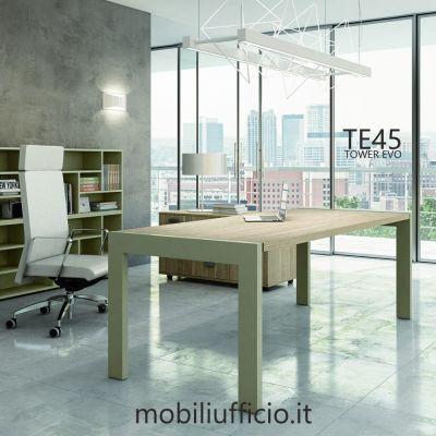 TE45 scrivania TOWER EVO struttura metallo