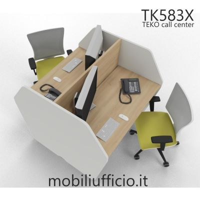 TK583X postazione singola TEKO call-center DOPPIA